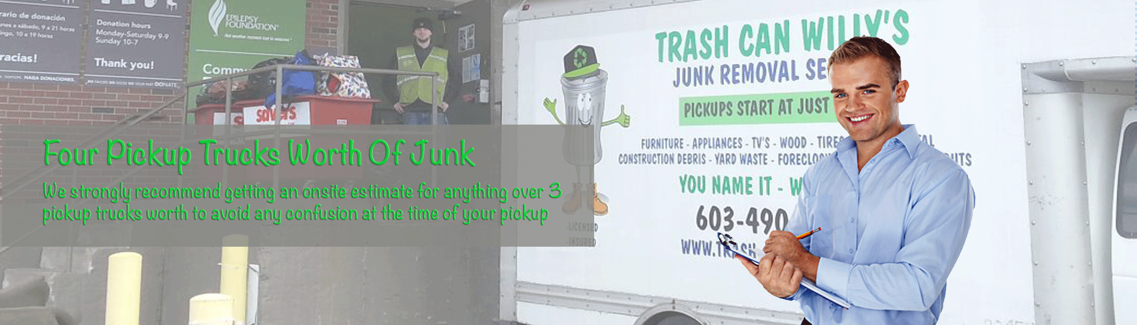 junk removal pricing on 4 or more junk removal pickup trucks worth