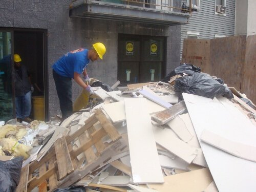 Construction debris pickup removal and disposal