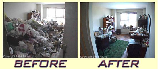 Decluttering services provided to a customer in Lowell Ma