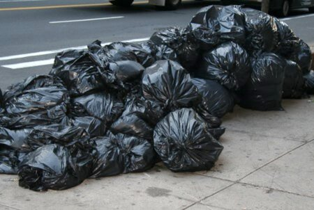 a bunch of trash bags
