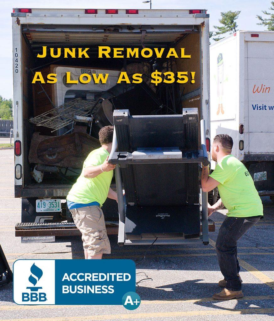 junk hauling junk pickup disposal service nh ma