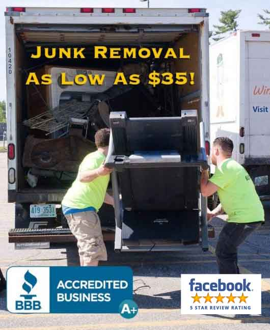 appliance removal furniture television disposal hauling Newmarket Rye